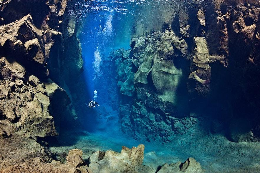 冰島裂縫潛水
