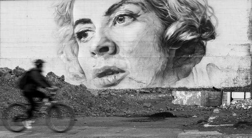在冰岛首都雷克雅未克你可以欣赏到各种不同类型的涂鸦艺术作品