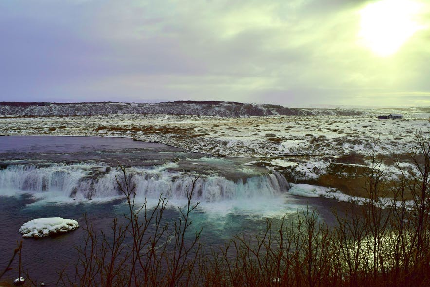 Gulfoss Waterfalls in the Golden Circle, Iceland
