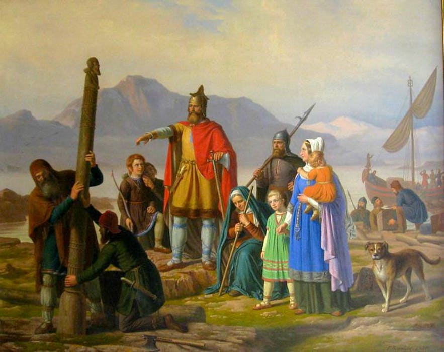 Ingolfr Arnasson was, arguably, the first setter to Iceland. Men like him would have used the stars and mythology to choose the correct places to settle.