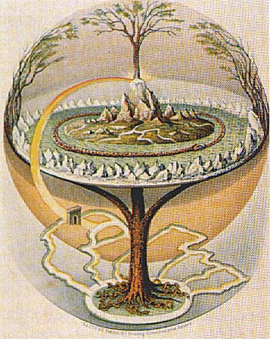 Yggdrasil, aka; The World Ash. This is the axis mundi, or world axis, of the ancient Norse religion.