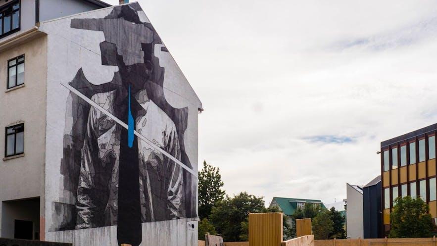 这幅壁画是Selur在整个冰岛 Wall poetry的计划中最喜欢的作品