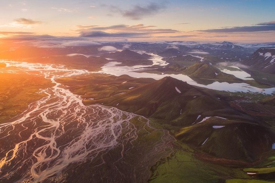 冰岛的四季夏季