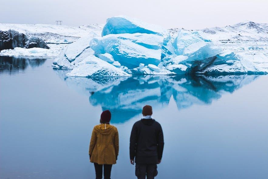 冰岛的四季杰古沙龙冰河湖