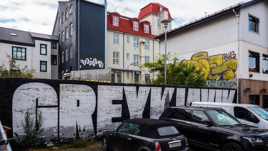冰岛首都雷克雅未克涂鸦作品GREYKJAVÁK