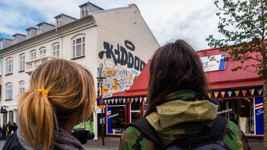 """冰岛艺术家正在为我们展示他的""""签名""""涂鸦"""