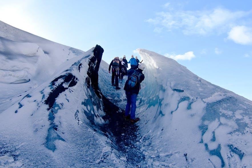 冰岛的2月 - 冰川徒步旅行团
