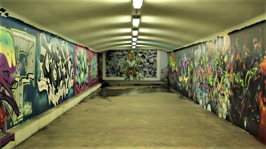Any graffiti tour of Reykjavík should end in Hlíðargöngin underpass