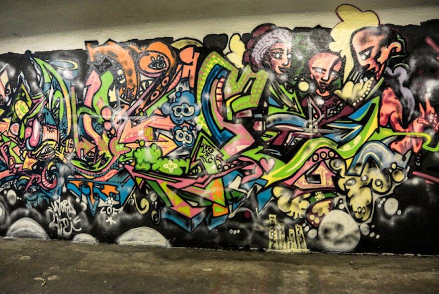冰岛街头艺术家Youze的涂鸦作品
