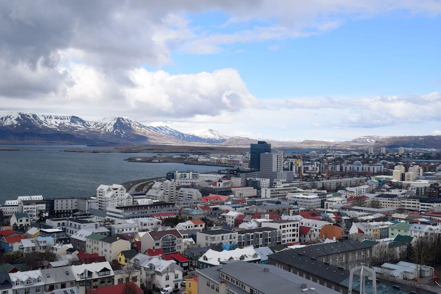 Views from Hallgrimskirkja Church in Reykjavik