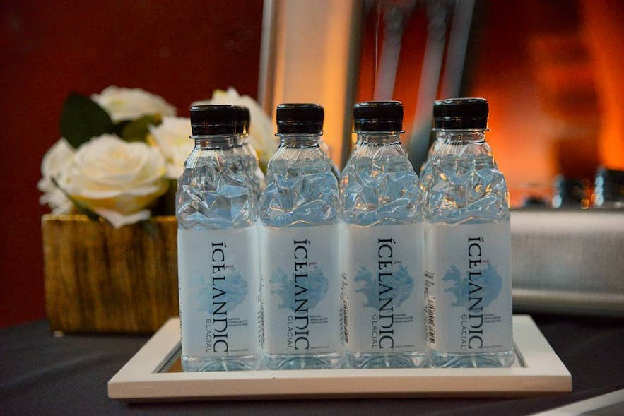 Despite the delicious looking promotional shots, bottled water in Iceland is EXACTLY that which comes plastic-free from the tap.