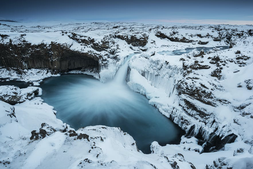 Aldeyarfoss cascade du nord de l'Islande