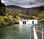 Near the Secret Lagoon in Fluðir in south Iceland is an even more secret lagoon: an abandoned swimming pool, filled with geothermal water.