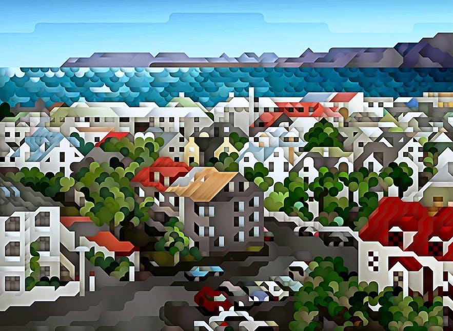 One of Eggertsson's Iceland-inspired works