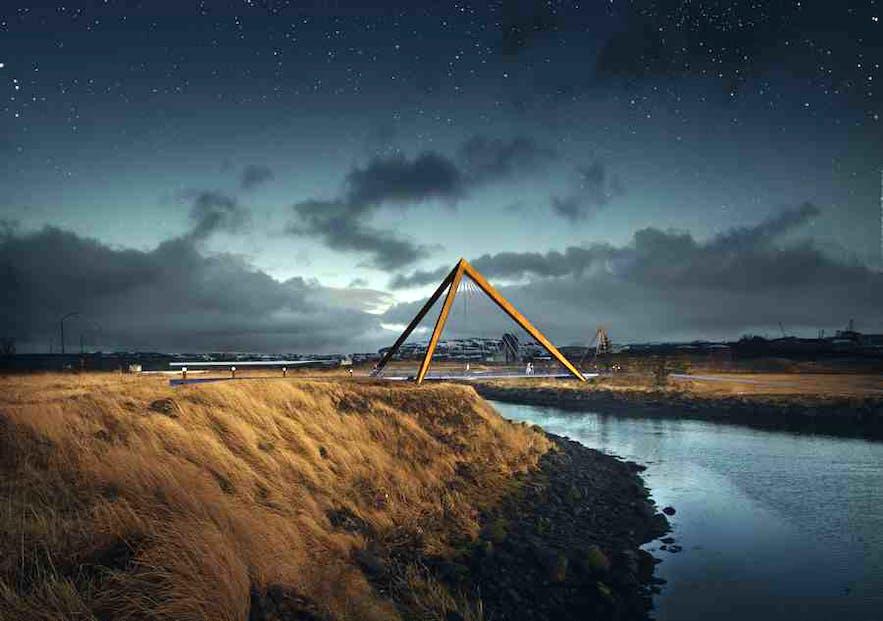 シンプルながらインパクトのある吊り橋