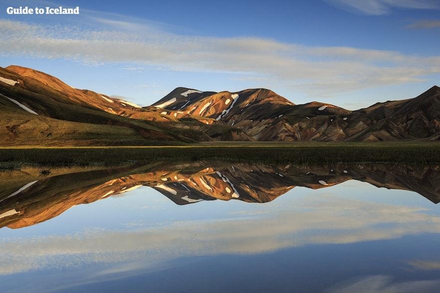 Les hautes terres peuvent être visitées au mois de juillet en Islande