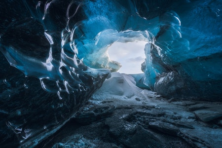 Inside one of Vatnajökull's ice caves