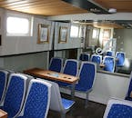 Go whale watching in comfort with the luxurious on-board amenities.