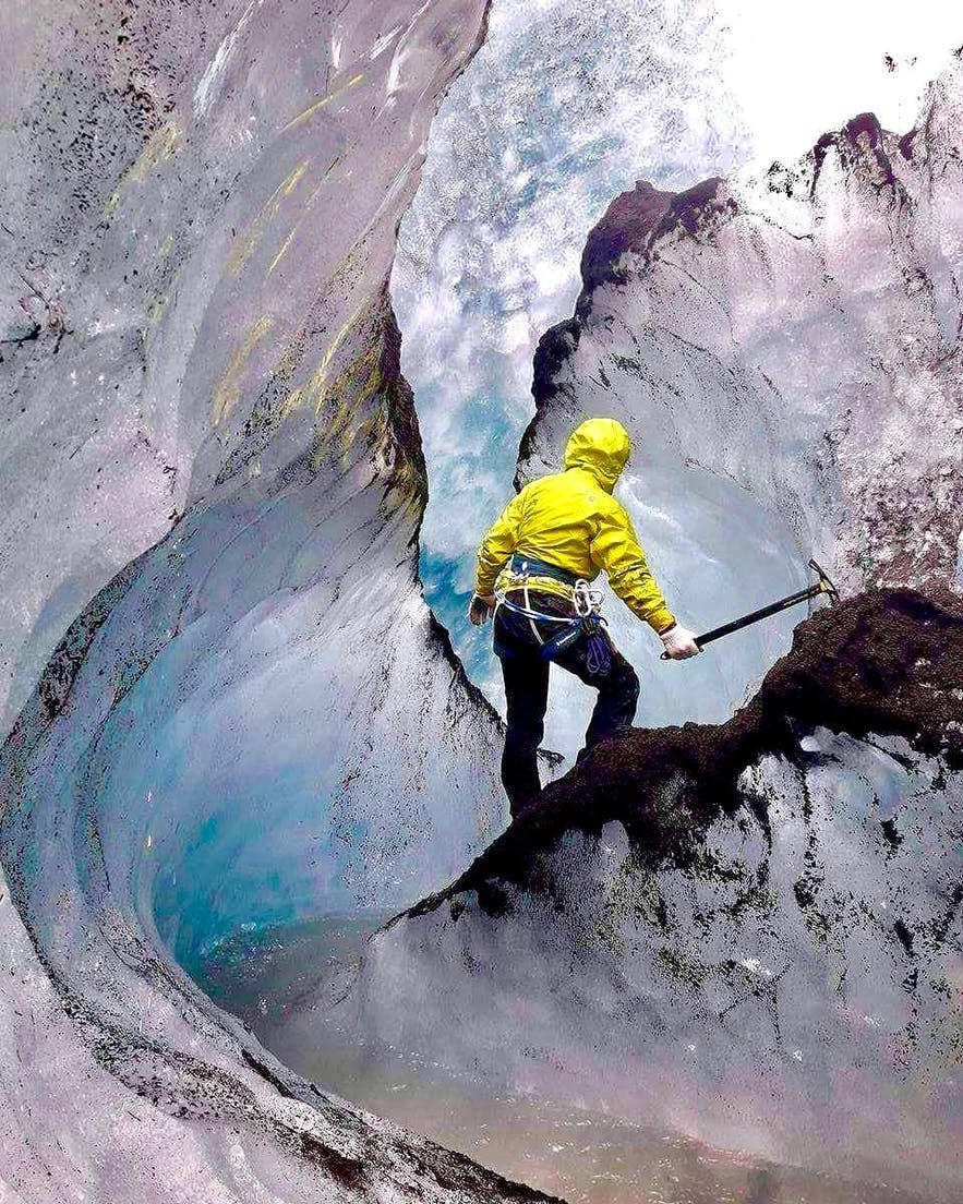 Wycieczka po lodowcu na Islandii