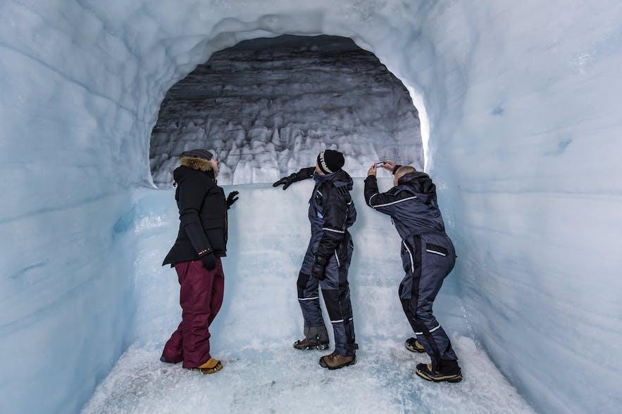 One of the chambers inside Langjökull