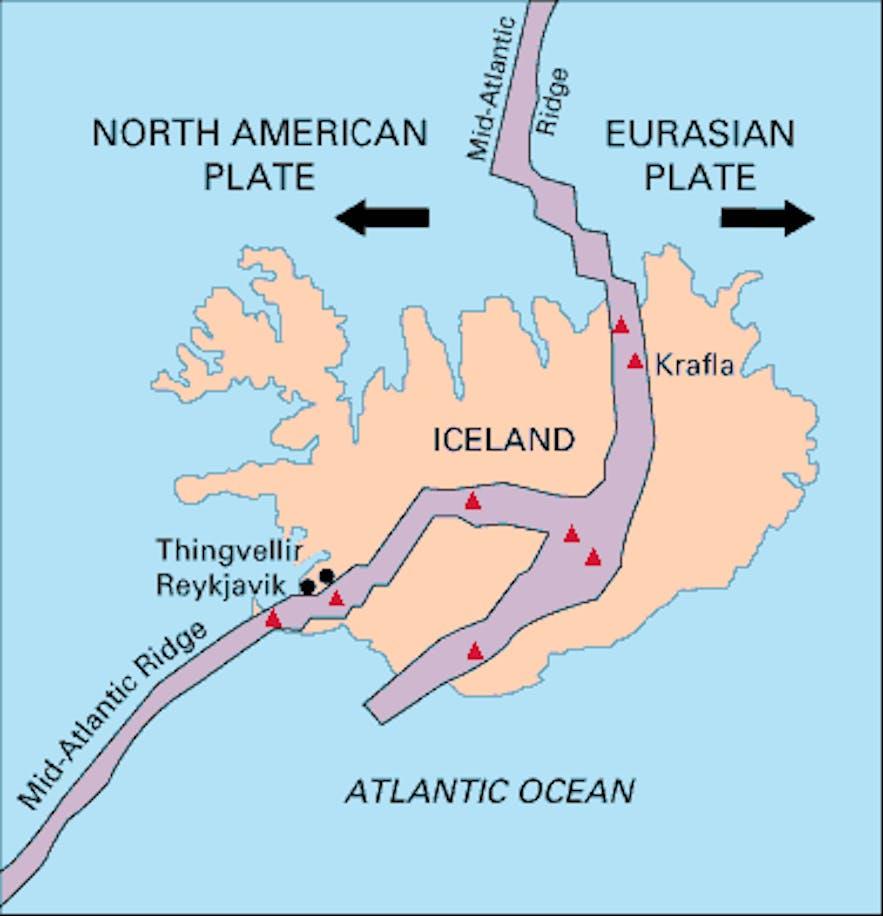 冰島的地殼運動
