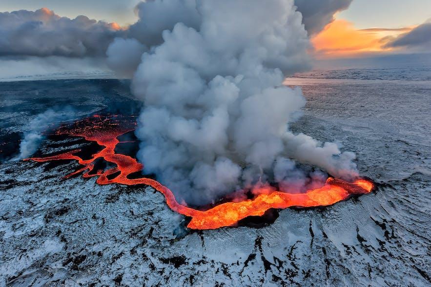 冰岛壮观的火山