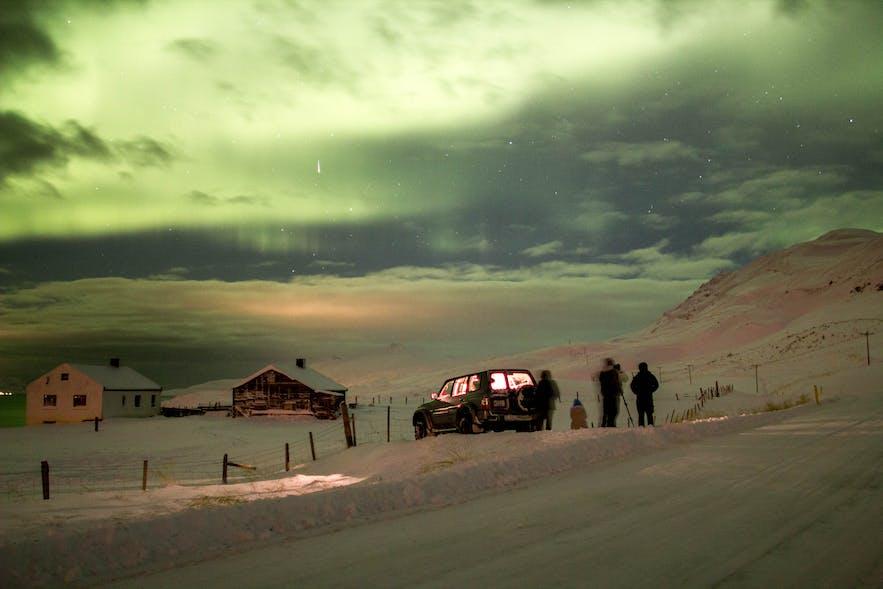 冰岛北部阿克雷里极光旅行团