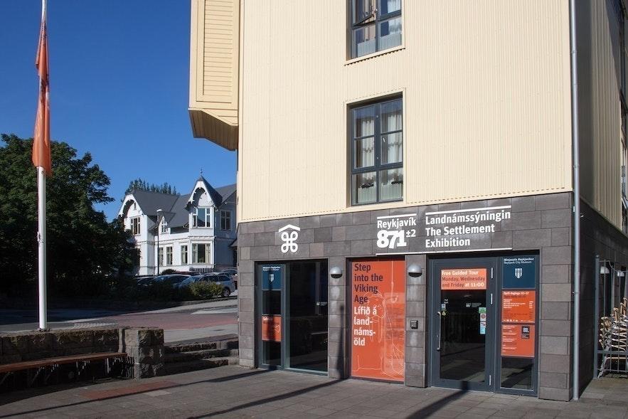 Wejście do Settlement Exhibition (Reykjavík 871 +/- 2)