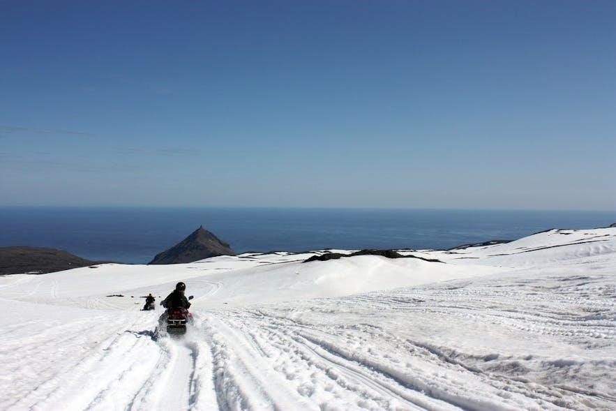 冰岛雪地摩托、冰原摩托