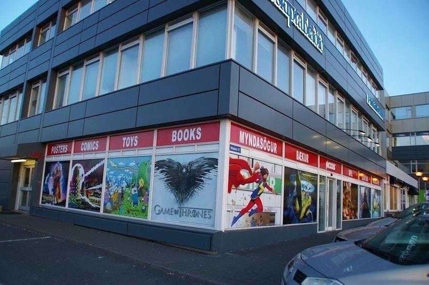 The storefront of Nexus in Reykjavik, Iceland