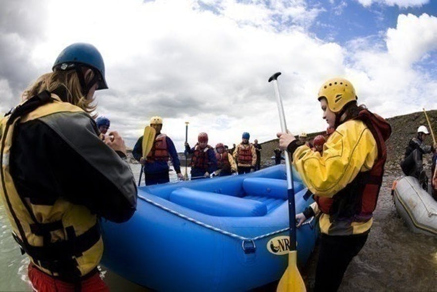 Rafting on Hvitá on the Golden Circle in Iceland