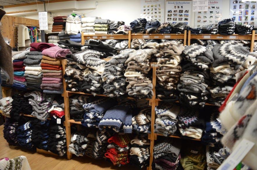 アイスランド手編み協会の店内の様子