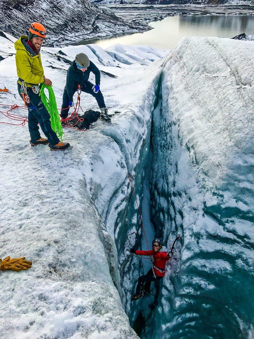冰岛索尔黑马冰川徒步