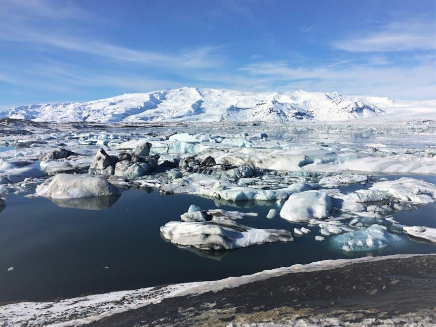 Die Gletscherlagune Jökulsárlón in Island