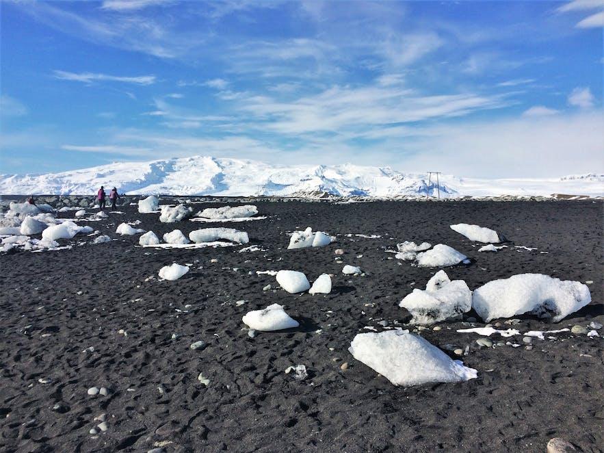 Der sogenannte Diamantstrand in Island
