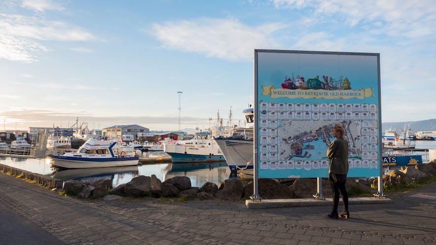 Spacer przez port pozwala na odkrycie serca Reykjavíku.