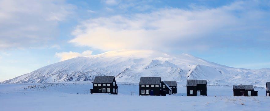 冰島西部Snæfellsjökull斯奈菲爾火山