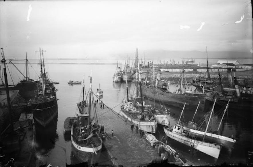 Port w 1925r, Reykjavik.