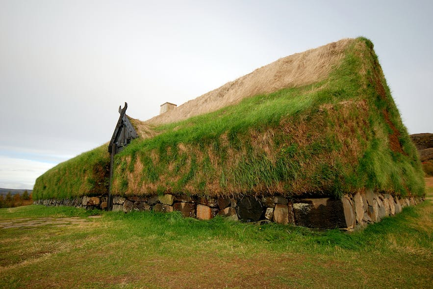Initially, settlement homes would have taken the Viking Longhouse form, as seen here. In over 1000 years, the architecture around Iceland and, in particular Reykjavik, would change dramatically.