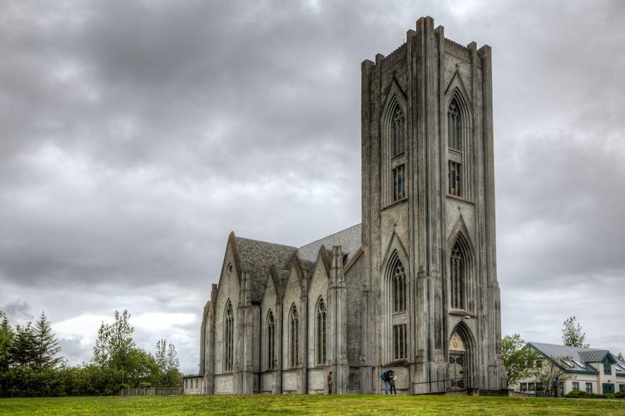 할그림스키르캬 교회가 들어서기 전, 란다코트스키르캬 교회가 아이슬란드 최대 크기의 교회였습니다