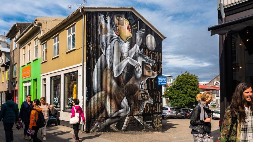 어반 네이션(Urban Nation)과 아이슬란드 에어웨이브(Iceland Airwaves)의 벽화
