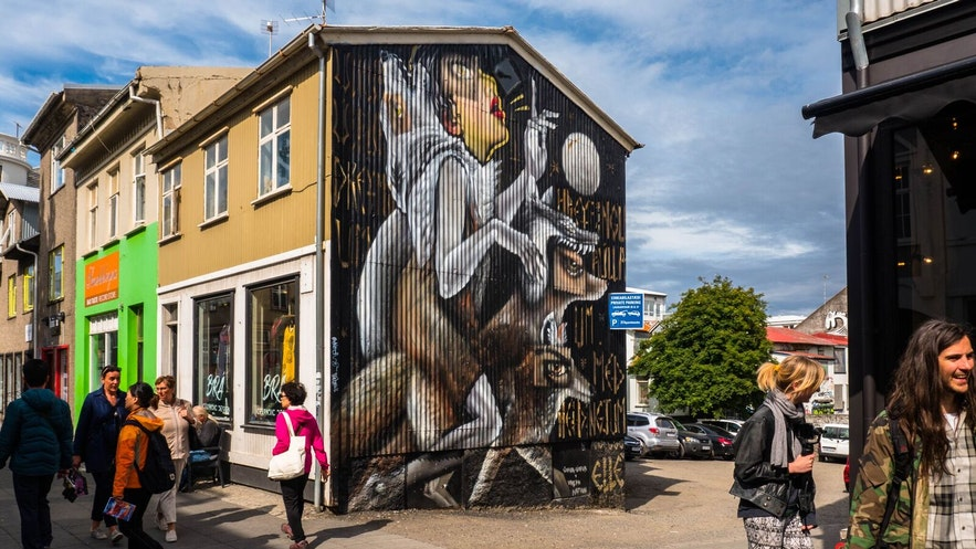 One of the Urban Nation and Iceland Airwaves Wallpoetry murals