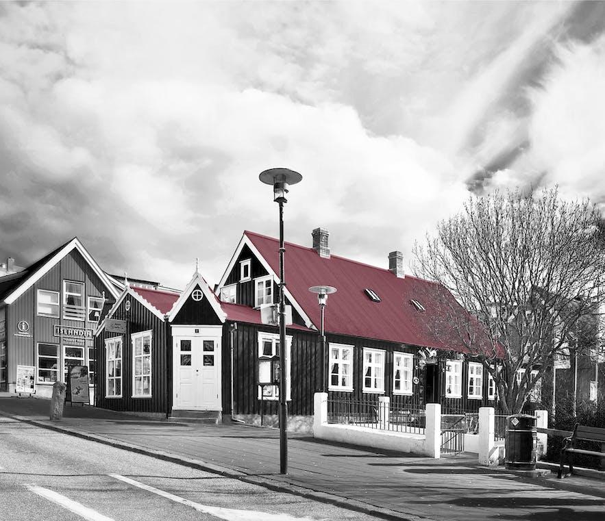Reykjavik, stary dom z 1834 roku.