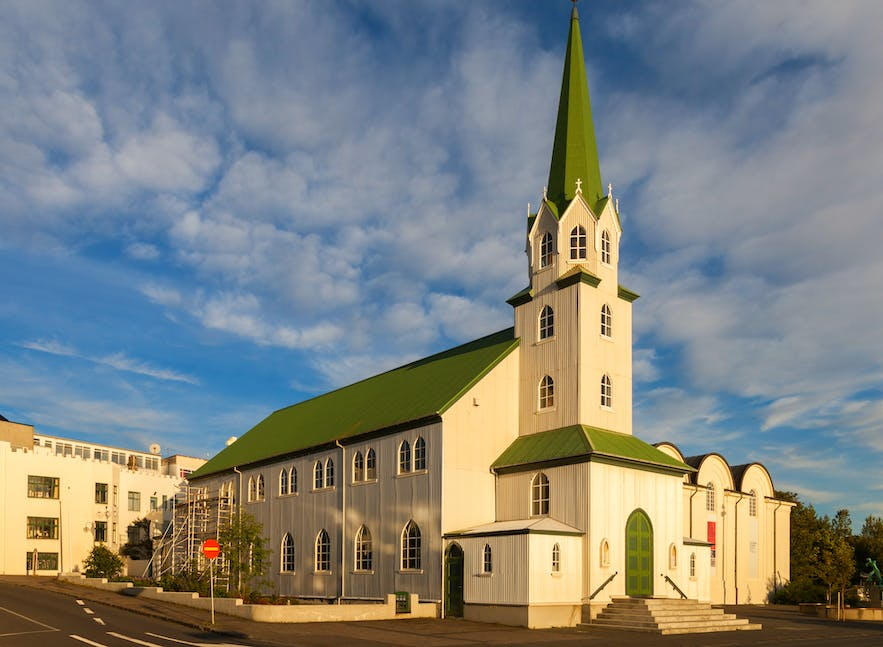 Fríkirkjan í Reykjavík is one of the oldest churches in Reykjavik, and one of its most iconic.