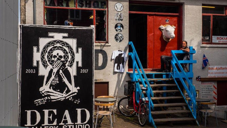 Galeria Dead w centrum Reykjaviku.