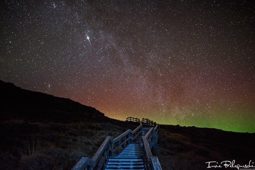 Les aurores polaires dans les fjords de l'Ouest