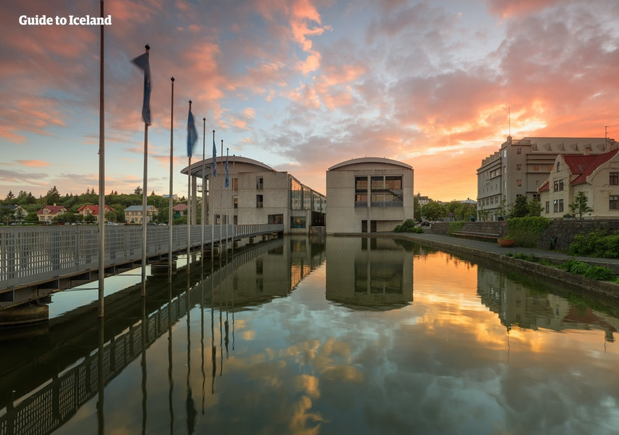 Reykjavik City Hall, just beside the pond, a perfect example of Nordic Modernism.