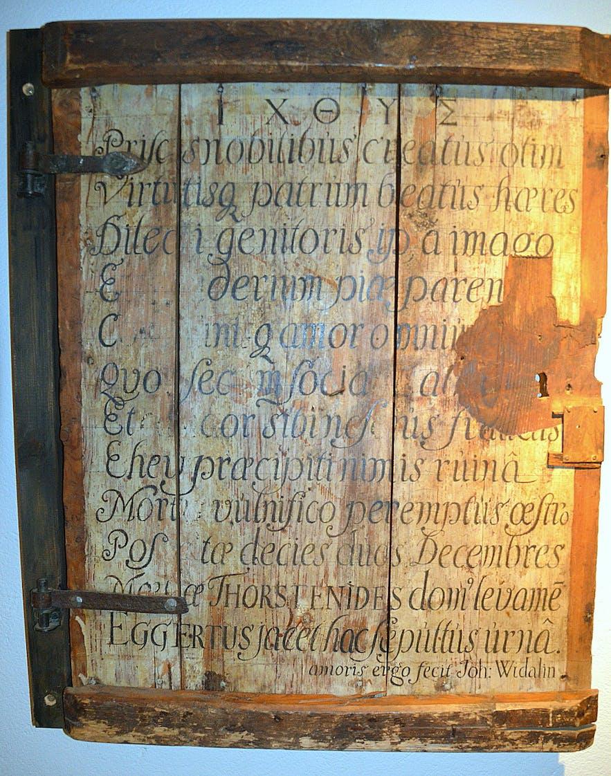 In the crypt of Skálholt