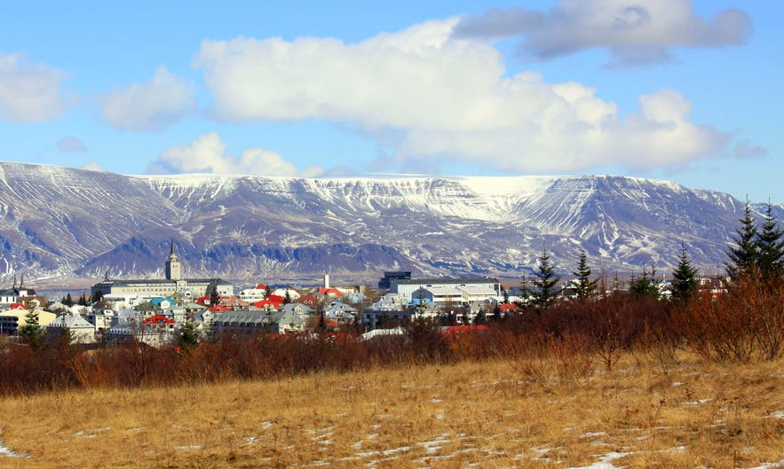 Mt. Esja, a mighty mountainscape resting behind Iceland's capital.
