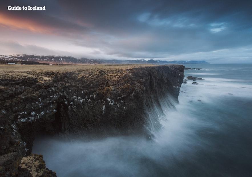 Klify na Islandii